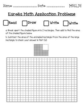 Eureka Math Application Journal Third Grade Module 4