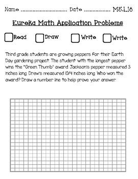 Eureka Math Application Journal Third Grade Module 5
