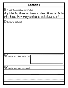 Eureka Math Application Problem Journal First Grade Module 4