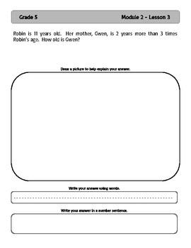 EngageNY and Eureka Math Application Problems - Grade 5 - Module 2 - V3