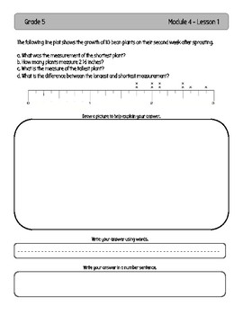 EngageNY and Eureka Math Application Problems - Grade 5 - Module 4 - V3