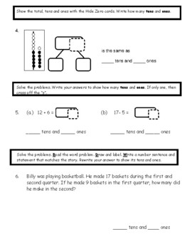Eureka Math Assessment First Grade  Module 2 Topic D