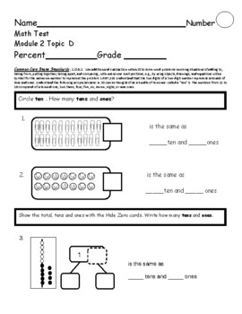 Eureka Math Assessment First Grade  Module 2 Topic D