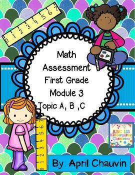 Eureka Math Assessment First Grade  Module 3 Topic A, B, and C  Measurement