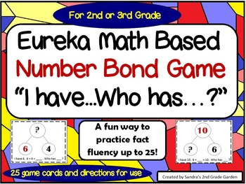 """Eureka Math Based Number Bond Game """"I have...Who has?"""" New Twist on an Old Game"""