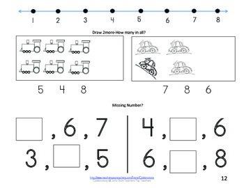 Math Books- Numbers 1-8
