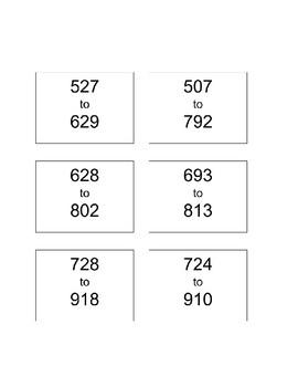 Eureka Math Counting Up Cards