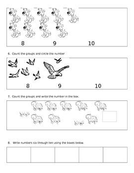 Eureka Math End of Module 1 Kindergarten Assessment