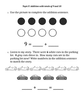 Eureka Math End of Module 4 Assessment for Kindergarten