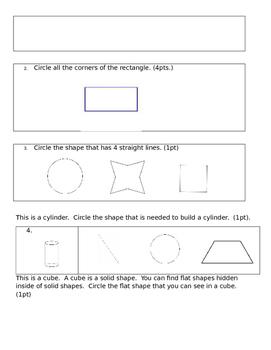 Eureka Math End of Module 6 Kindergarten Test
