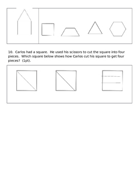 Eureka Math End of Module 6 Kindergarten Test