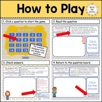 Eureka Math/ Engage NY 1st Grade Module 1-6 Mid/End-of-Module Review PPT Bundle