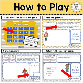 Eureka Math/ Engage NY 1st Grade Module 1 Mid-Module Review PPT Game