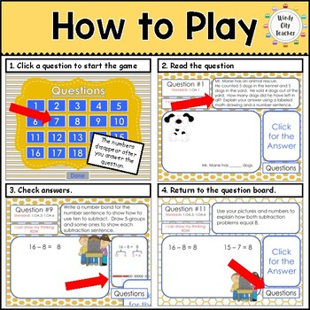 Eureka Math/ Engage NY 1st Grade Module 2 End-of-Module Review PPT Game