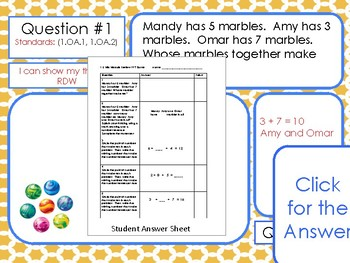 Eureka Math/ Engage NY 1st Grade Module 2 Mid-Module Review PPT Game