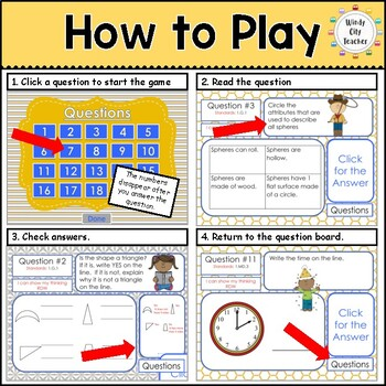 Eureka Math/ Engage NY 1st Grade Module 5 End-of-Module Review PPT Game