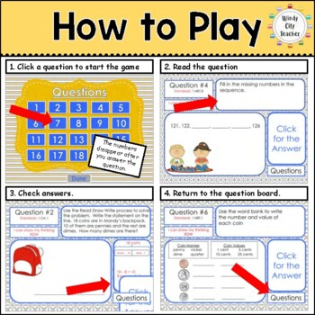 Eureka Math/ Engage NY 1st Grade Module 6 End-of-Module Review PPT Game