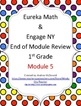 Eureka Math / Engage NY 1st Grade end-of-module review Module 5