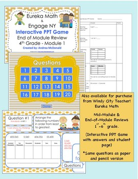 Eureka Math / Engage NY 1st Grade end-of-module review Module 6