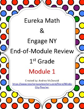 Eureka Math / Engage NY 1st Grade end-of-module review module 1
