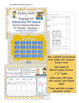 Eureka Math / Engage NY 1st Grade end-of-module review module 1