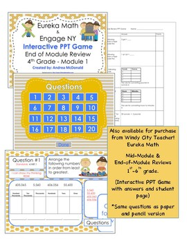 Eureka Math / Engage NY 1st Grade end-of-module review module 2