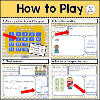 Eureka Math/ Engage NY 2nd Grade Module 3 End-of-Module Review PPT Game