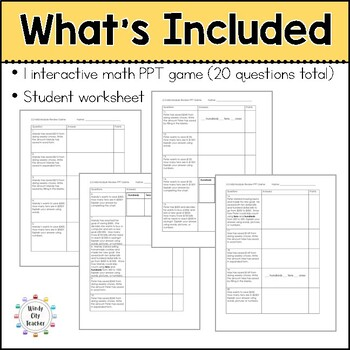 Eureka Math/ Engage NY 2nd Grade Module 3 Mid-Module Review PPT Game