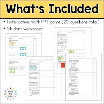 Eureka Math/ Engage NY 2nd Grade Module 6 Mid-Module Review PPT Game