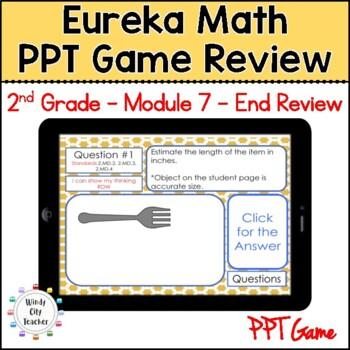 Eureka Math/ Engage NY 2nd Grade Module 7 End-of-Module Review PPT Game