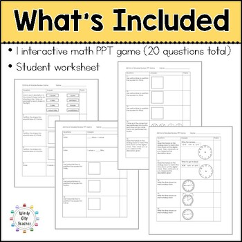 Eureka Math/ Engage NY 2nd Grade Module 8 End-of-Module Review PPT Game