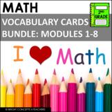 Eureka Math / Engage NY - 2nd Grade Vocabulary Cards - BUN