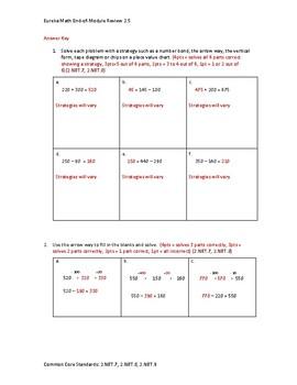 Eureka Math / Engage NY 2nd Grade end-of-module review Module 5