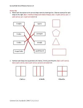 Eureka Math / Engage NY 2nd Grade end-of-module review Module 8