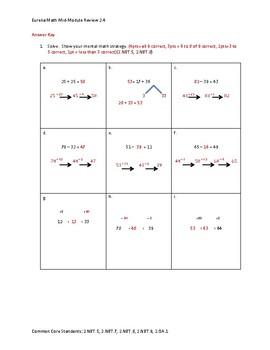 Eureka Math / Engage NY 2nd Grade mid-module review module 4