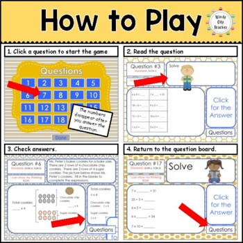 Eureka Math/ Engage NY 3rd Grade Module 1 End-of-Module Review PPT Game
