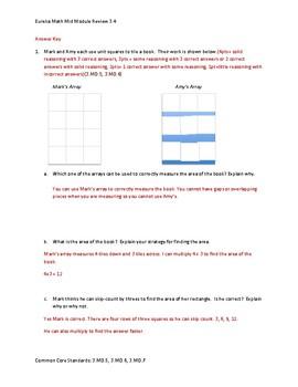 Eureka Math / Engage NY 3rd Grade Mid-module review Module 4