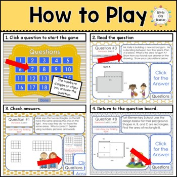 Eureka Math/ Engage NY 3rd Grade Module 4 End-of-Module Review PPT Game