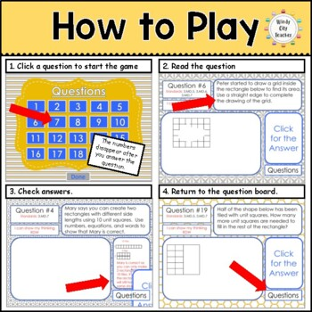 Eureka Math/ Engage NY 3rd Grade Module 4 Mid-Module Review PPT Game