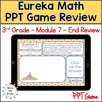Eureka Math/ Engage NY 3rd Grade Module 7 End-of-Module Review PPT Game