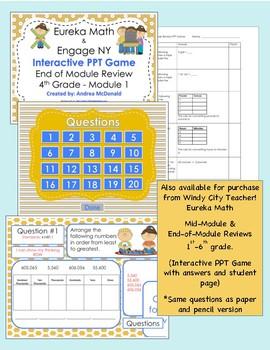 Eureka Math / Engage NY 3rd Grade end-of-module review Module 2