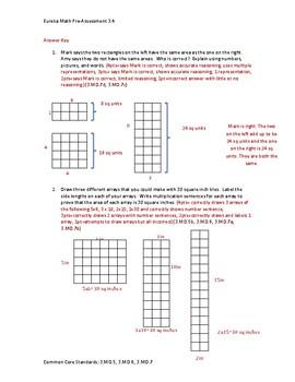 Eureka Math / Engage NY 3rd Grade pre-assessment module 4