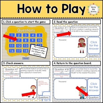 Eureka Math/ Engage NY 4th Grade Module 1 Mid-Module Review PPT Game