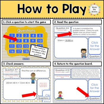 Eureka Math/ Engage NY 4th Grade Module 2 End-of-Module Review PPT Game