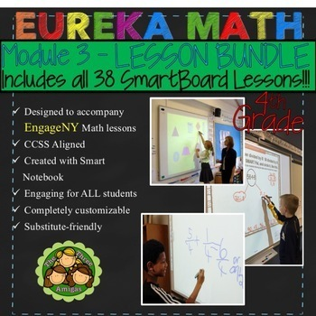 Eureka Math/Engage NY 4th Grade Module 3 LESSON BUNDLE #1 (Lessons 1-19)
