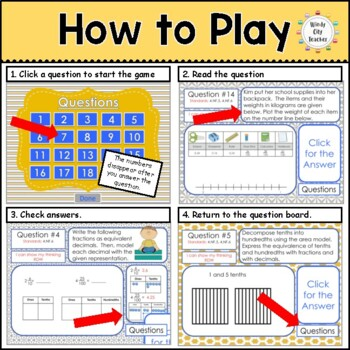 Eureka Math/ Engage NY 4th Grade Module 6 Mid-Module Review PPT Game
