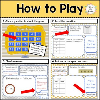 Eureka Math/ Engage NY 4th Grade Module 7 End-of-Module Review PPT Game