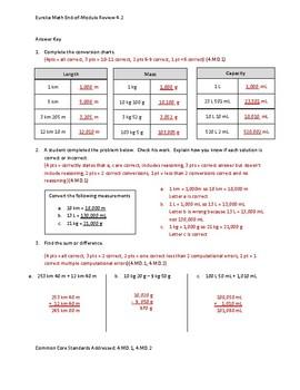 Eureka Math / Engage NY 4th Grade end-of-module review module 2