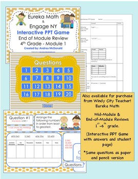 Eureka Math / Engage NY 4th Grade mid-module review module 1