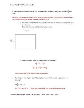 Eureka Math / Engage NY 5th Grade End-of-Module Review - Module 5